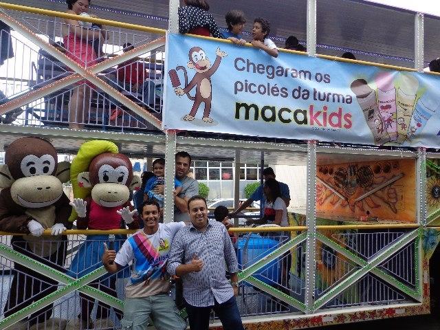 Festa de lançamento dos Picolés Macakids Ajellso