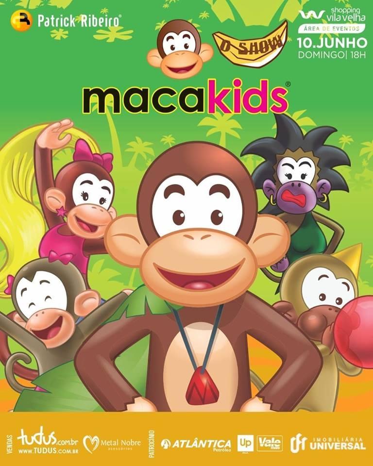 Show Macakids dia 10 de junho